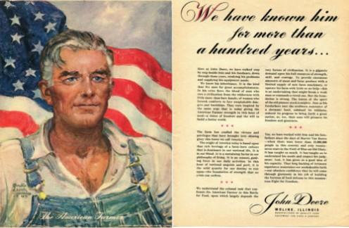 1944 John Deere tractor ad.