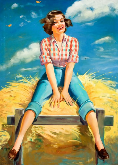 American farm girl ad.