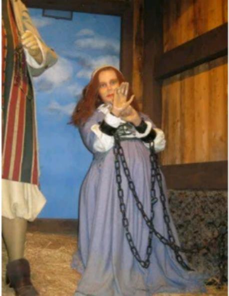 Elizabeth Proctor after being arrested during the Salem Witch Hunt