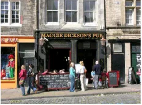 The 'Maggie Dickson'  Pub in Edinbourgh, Scotland.