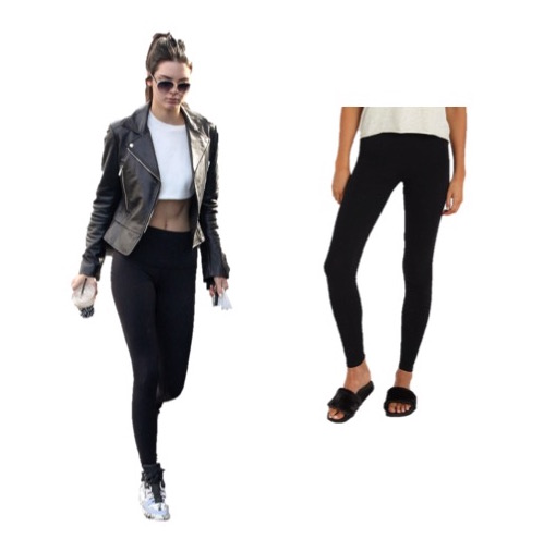 Left - Kendall Jenner Wearing Leggings