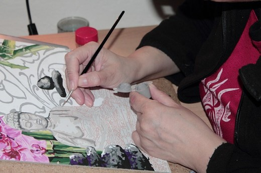 The tools of an artist include the canvas, brushes, and paints.