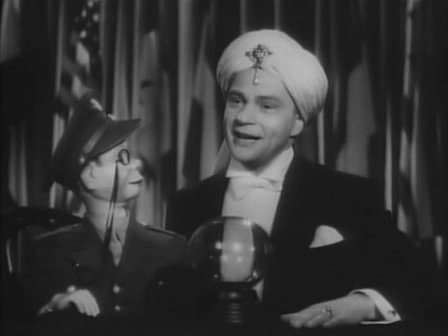 Edgar Bergen with  Charley McCarthy from  the film Stage Door Canteen.