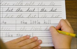 Why is cursive writing not being taught in schools?