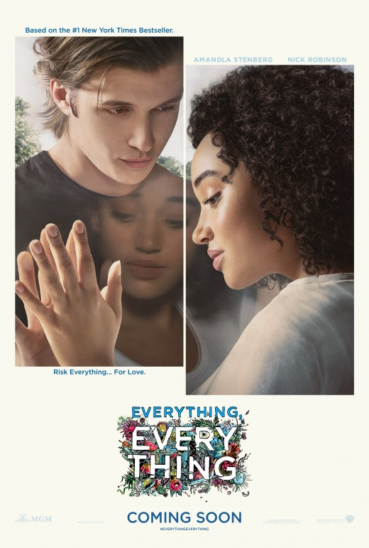 Everything, Everything movie poster featuring Amandla Stenberg (Madeline Whittier) and Nick Robinson (Olly).