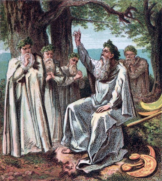 The ancient Druid priests and priestesses were said to have met in groves of oaks.