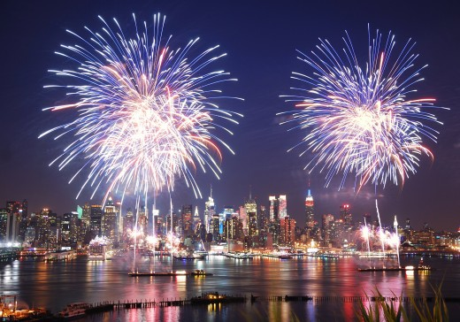 Fireworks for the 4th of  July in NYC