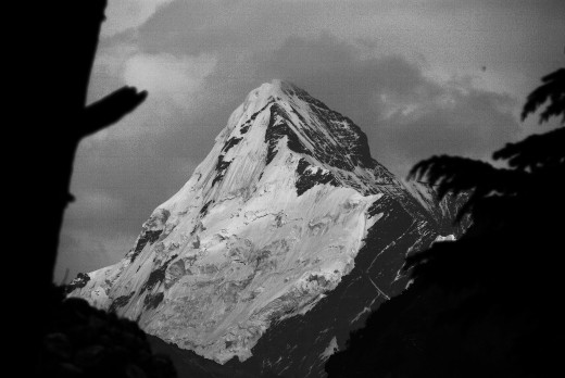 The beautiful peak Sudarshan as viewed from Gangotri
