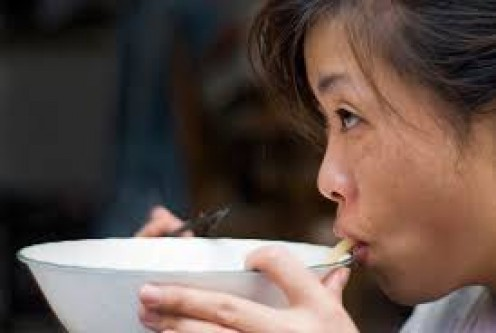 Slurping and smacking food in Japan is not only okay but it is considered good manners and a compliment to whoever cooked the meal.