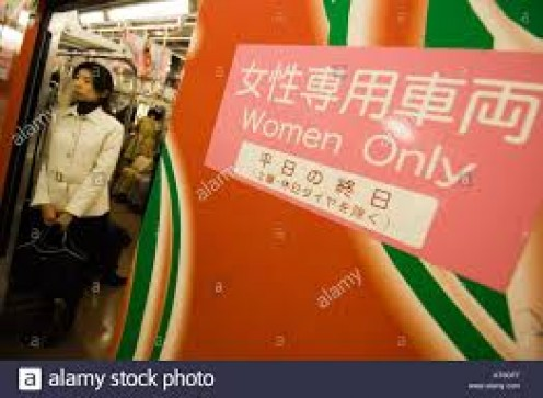 Japan has certain designated areas and stores that are women only and the policies are enforced.