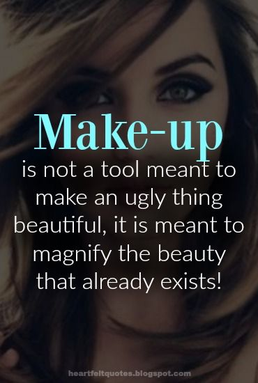 Make-up should bring out the beauty in your outfit and make it pop