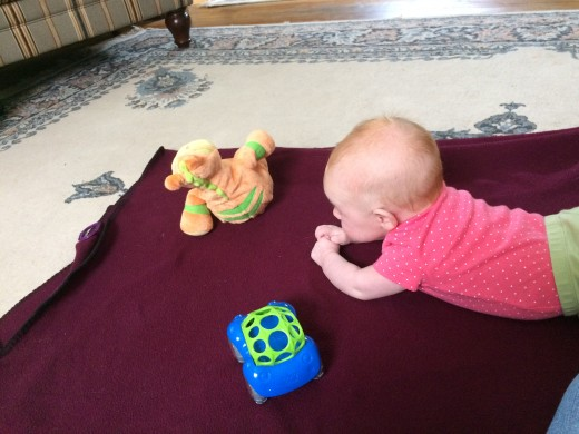 Tummy Time is so important for neck and shoulder muscle development.
