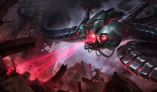 Splash art for the Battlecast Vel'koz skin