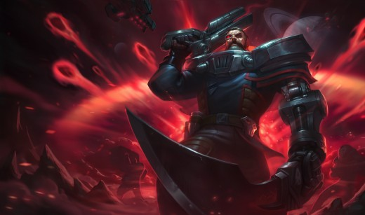 Splash art for the Dreadnova Gangplank skin