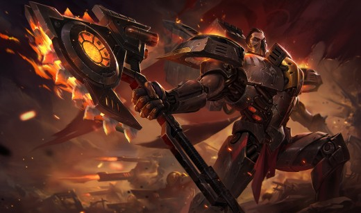 Splash art for the Dreadnova Darius skin