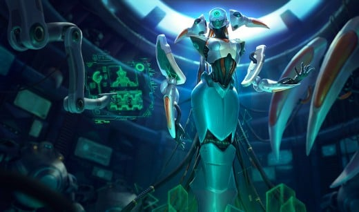 Splash art for the Program Lissandra skin
