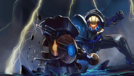 Splash art for the Full Metal Jayce skin