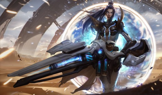 Splash art for the Pulsefire Caitlyn skin