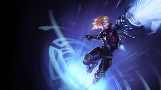 Splash art for the Pulsefire Ezreal skin
