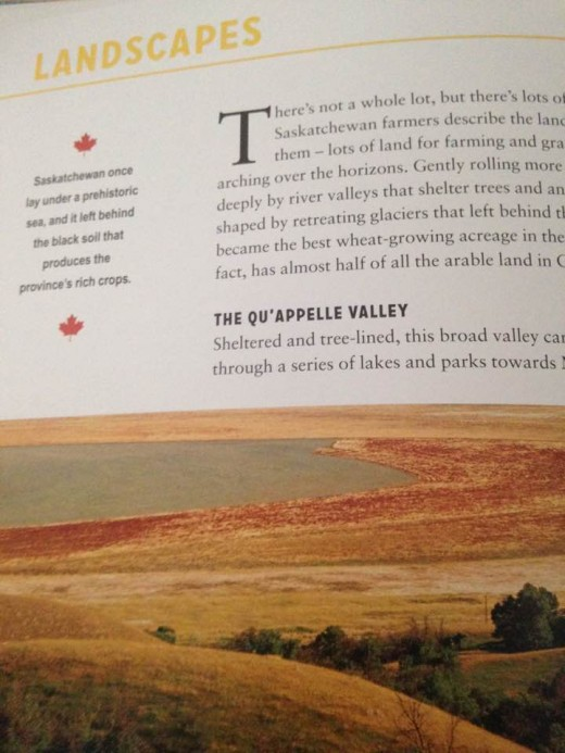 The landscape of the Qu'Appelle Valley