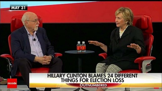 Hillary giving a rare interview talking about who she was blaming for her election loss in 2016