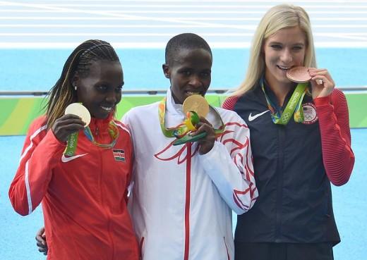 Emma Coburn, far right.