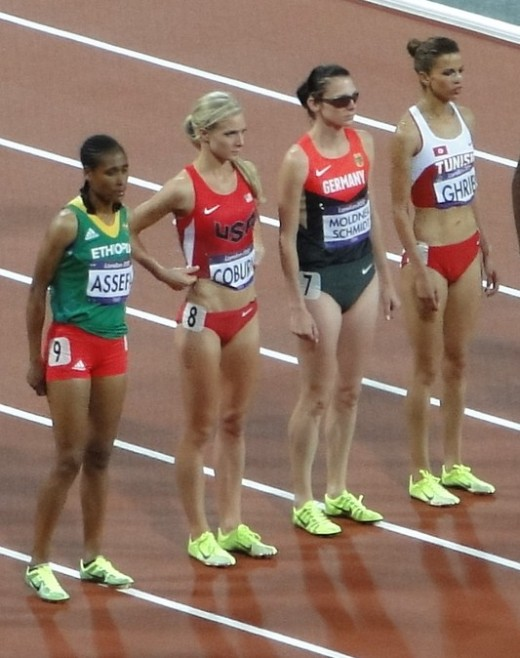 Emma Coburn, second from the left.