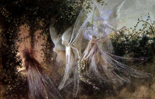 Fairies are thought to be land spirits, potentially gods, that were demonized during the Dark Ages.