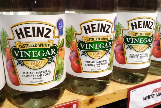 Vinegar can be used to clear greasy and grim around the house.