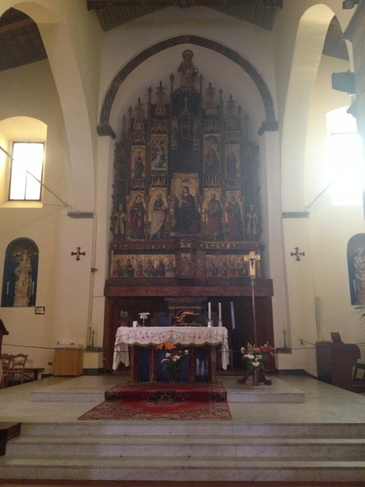 Altar of the 'Old Matrice' (Church of the Matrice Vecchia) Showing Polyptych Artwork