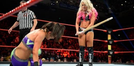 Alexa Bliss v Bayley. Photo: WWE