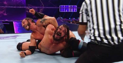 Austin Aries v Neville. Photo: WWE