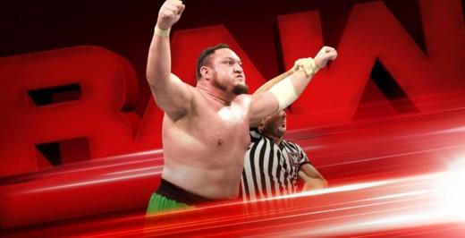 Samoa Joe Wins!. Photo: WWE Promo shot from Extreme Rules for RAW the following night.