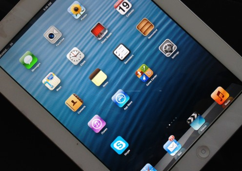 An iPad touchscreen