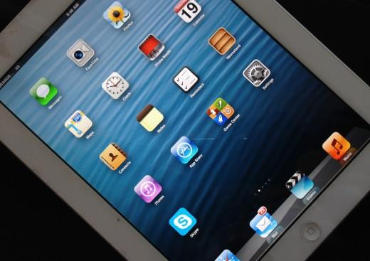 An iPad touchscreen