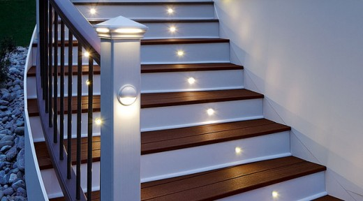 Adding extra lighting to your stairs increases visibility, thus decreasing your chance of falling.