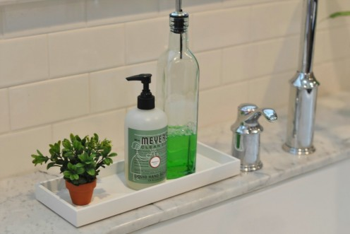 Keeping your bathroom arranged gives it a tidy appearance