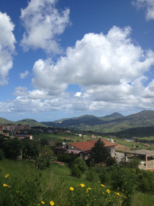 View From Castelbuono in the Madonie Region