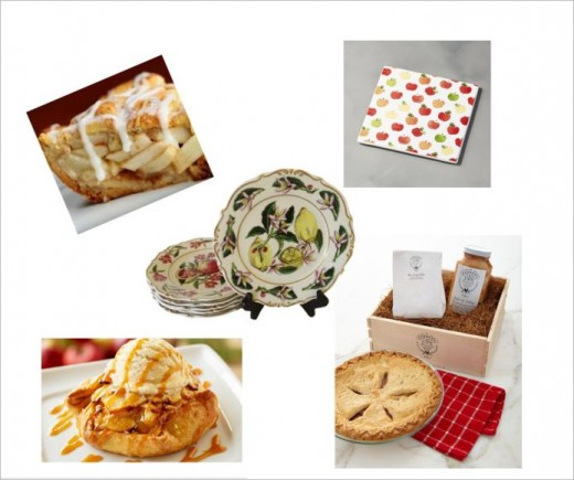 Apple tarts and ice-cream