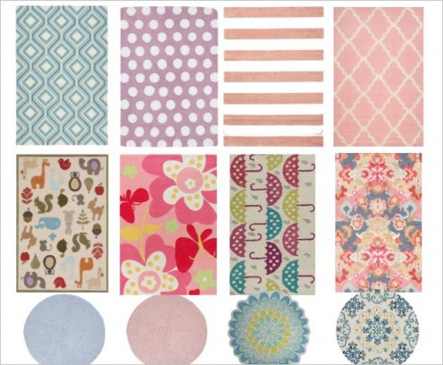 ;Lovely pastel coloured floor mats for bedrooms