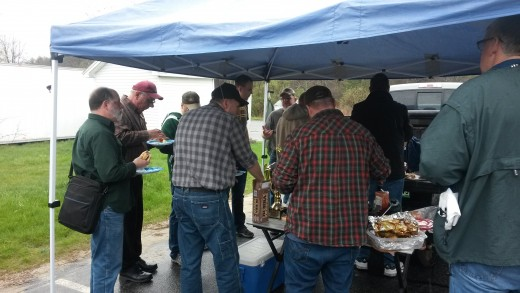 Tailgate party at a men's conference