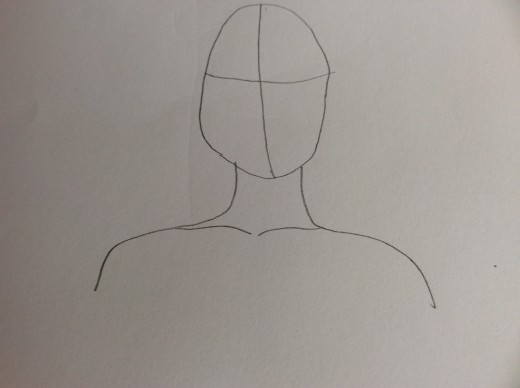 Step 1 Outline Of Head And Shoulders