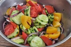 Tomato, Cucumber and Onion Summer Salad Recipe