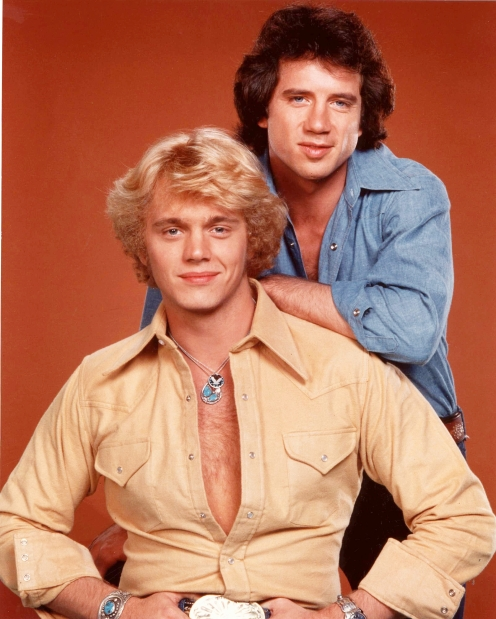 John Schneider, front, and Tom Wopat,  foreground.