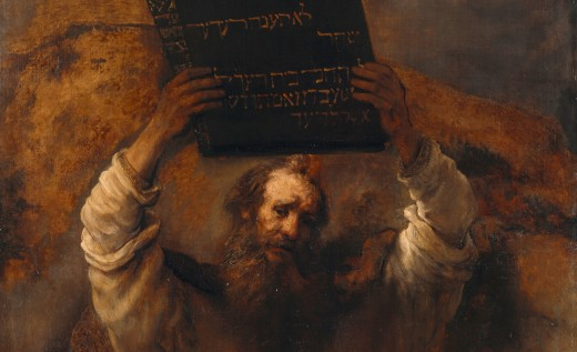 Moses with the Ten Commandments by Rembrandt, 1659