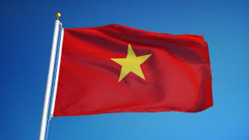 The Vietnamese flag originated in 1940 and it is the state and civil flag for the nation.