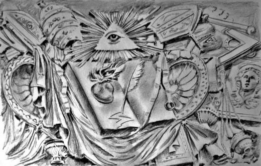 All Seeing Eye, Chapel Chigi, Rome.