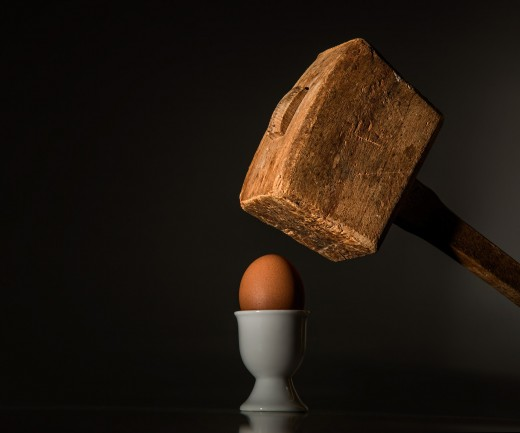 So Many Folks Are Like This Egg---Just Waiting to Be Hit Hard by a Force from Above