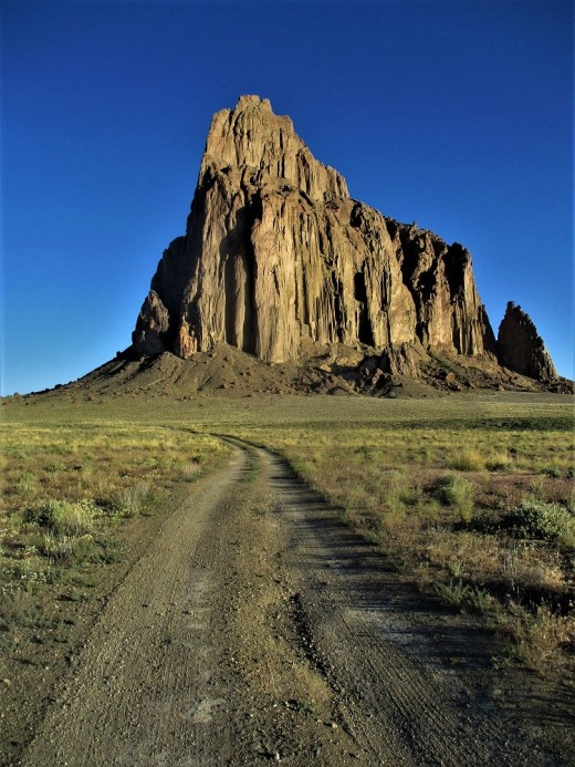 Located about 15 miles from the town of Shiprock on the Navajo Reservation this natural formation can be seen for dozens of miles away, photo by author