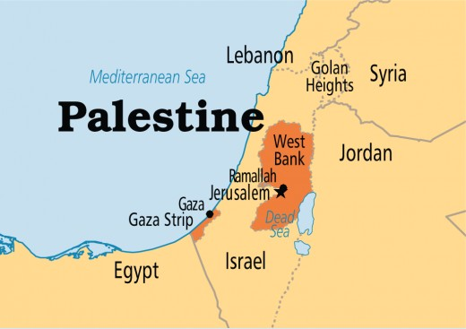 """The Palestinian Authority, current location of the """"Palestinians"""""""